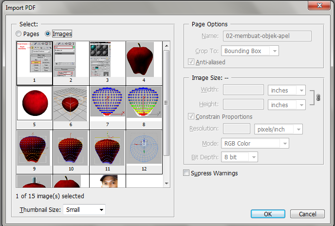 how to save image from pdf file
